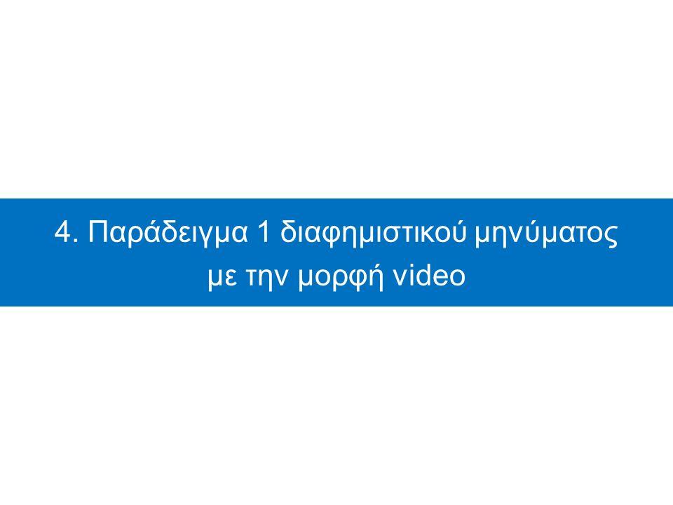 4. Παράδειγμα 1 διαφημιστικού μηνύματος με την μορφή video
