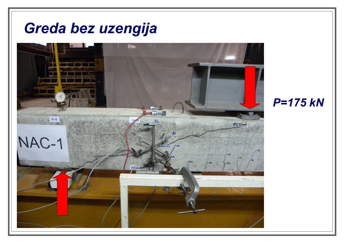 Greda bez uzengija P=175 kN