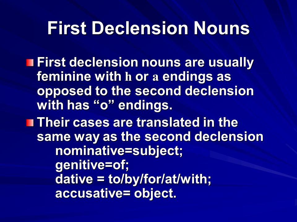 Meanings and translations η-based Singular Plural Nom./Voc.