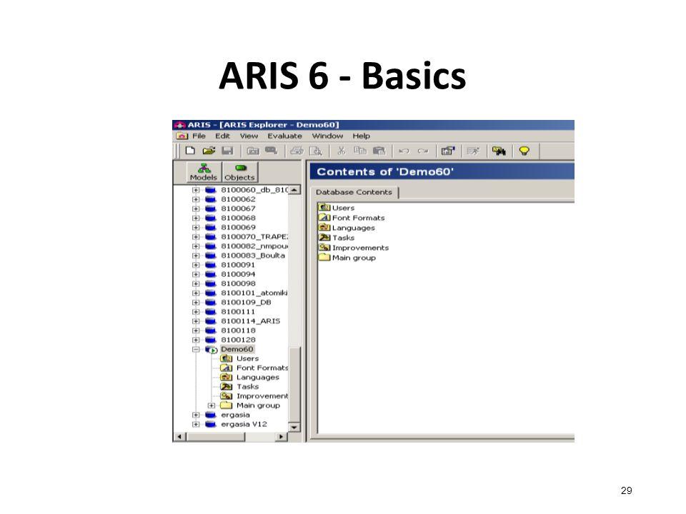 ARIS 6 - Basics 29