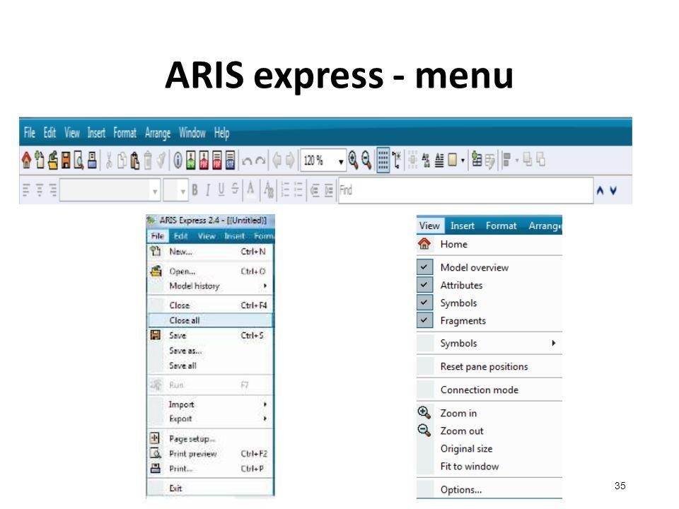 ARIS express - menu 35
