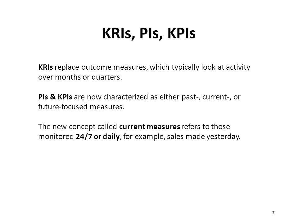 Τέλος Ενότητας #5 Μάθημα: Διοίκηση Απόδοσης Επιχειρηματικών Διαδικασιών Ενότητα #5: Key result indicators (KRIs), Performance Indicators (PIs), Key Performance Indicators (KPIs) Διδάσκων: Αγγελική Πουλυμενάκου Τμήμα: Διοικητικής Επιστήμης και Τεχνολογίας
