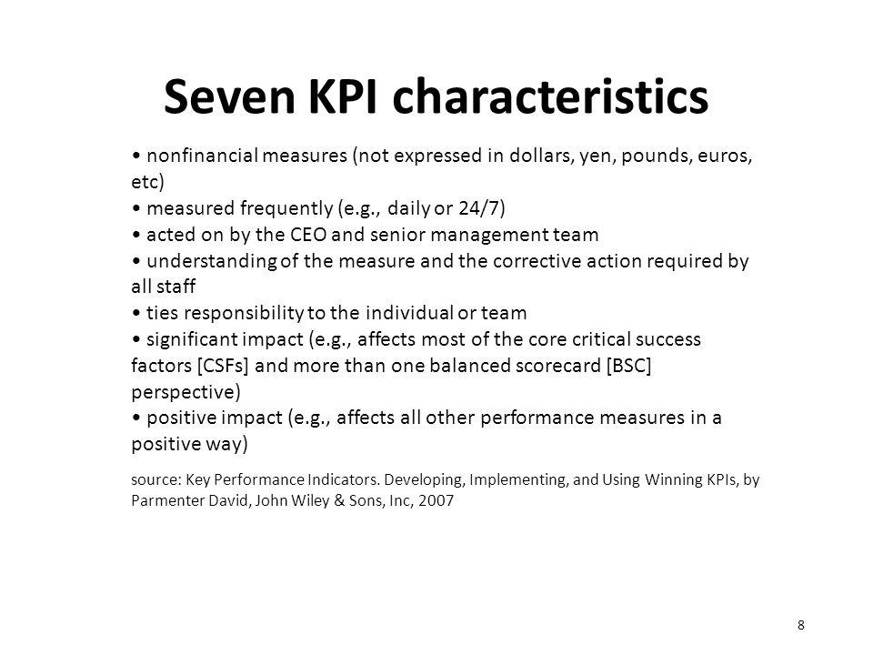 Uses and criticism of Balanced Scorecard & KPIs 9 http://www.slideshare.net/maxelsen/overview-of-key-performance-indicators