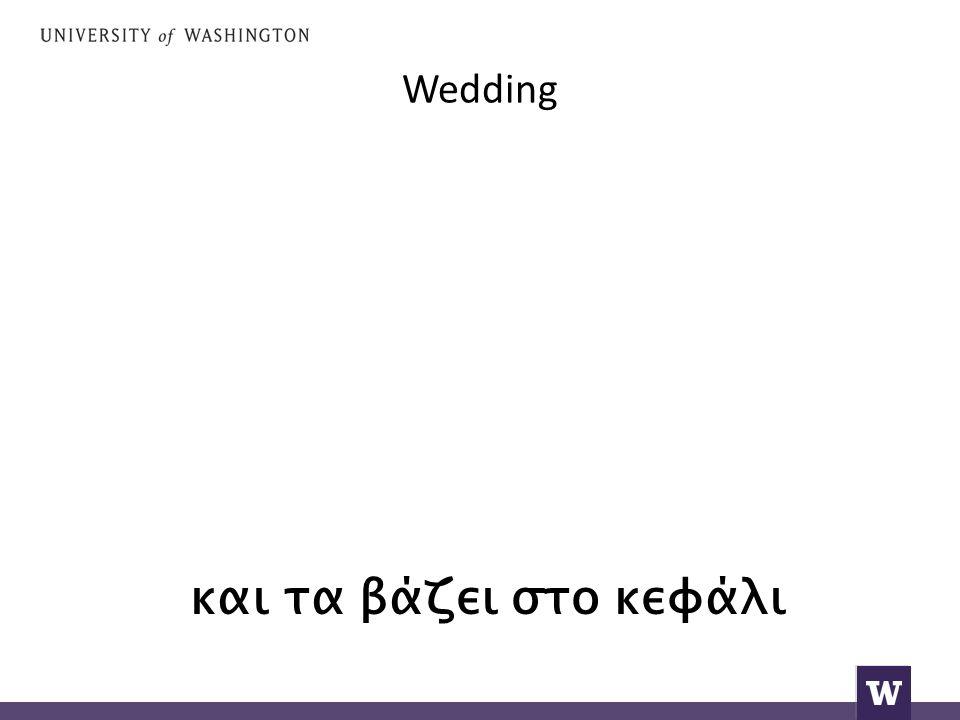 Wedding the groom, the bride,