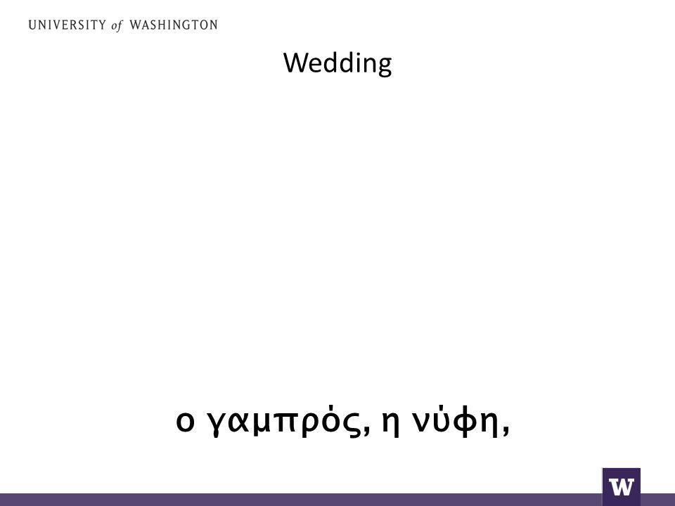Wedding ο γαμπρός, η νύφη,