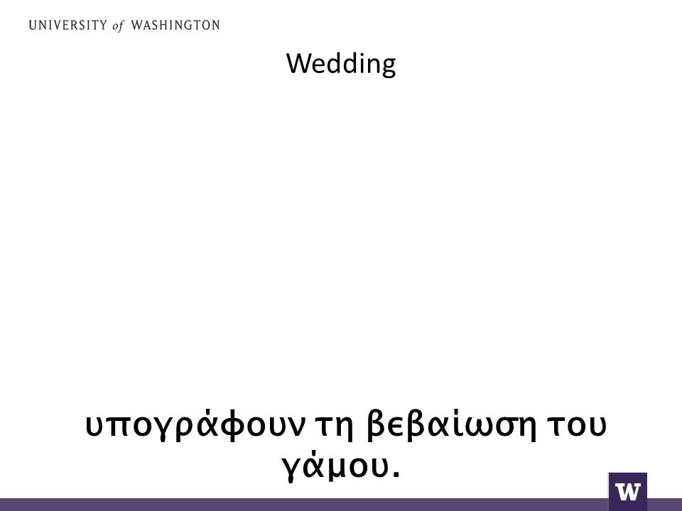 Wedding υπογράφουν τη βεβαίωση του γάμου.