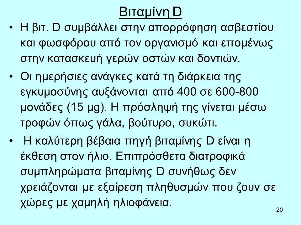 20 Βιταμίνη D Η βιτ.