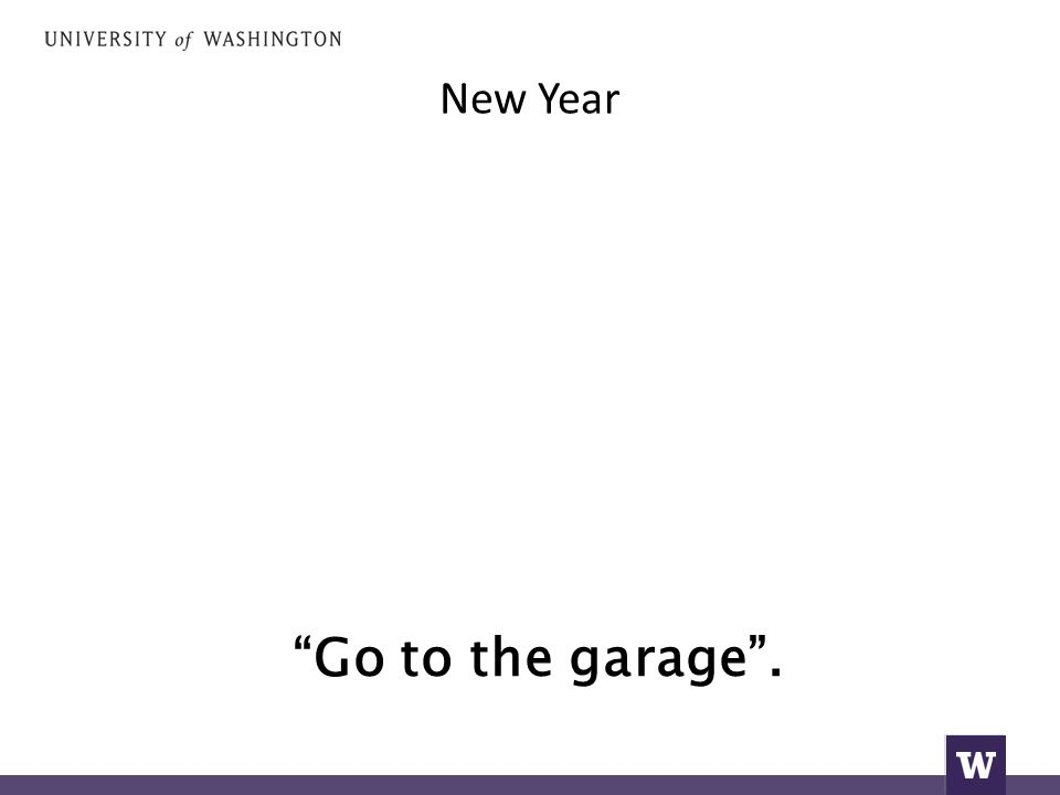 New Year Go to the garage .