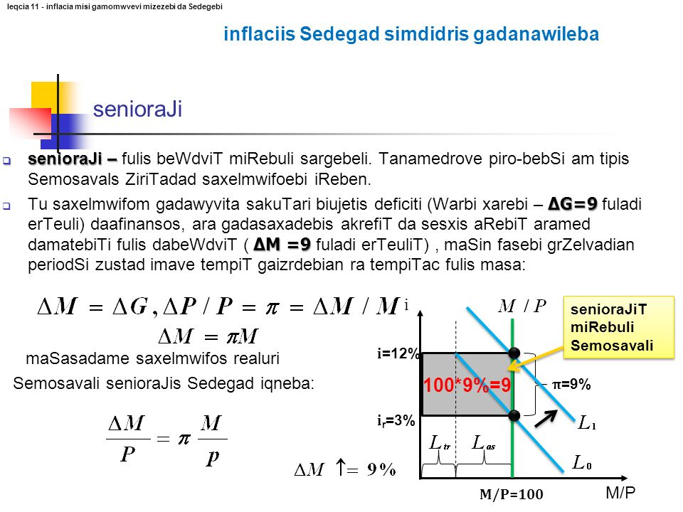 senioraJi – senioraJi – fulis beWdviT miRebuli sargebeli. Tanamedrove piro-bebSi am tipis Semosavals ZiriTadad saxelmwifoebi iReben. ΔG=9 ΔM =9 Tu sax