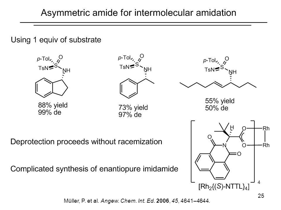 25 Müller, P. et al. Angew. Chem. Int. Ed. 2006, 45, 4641–4644.