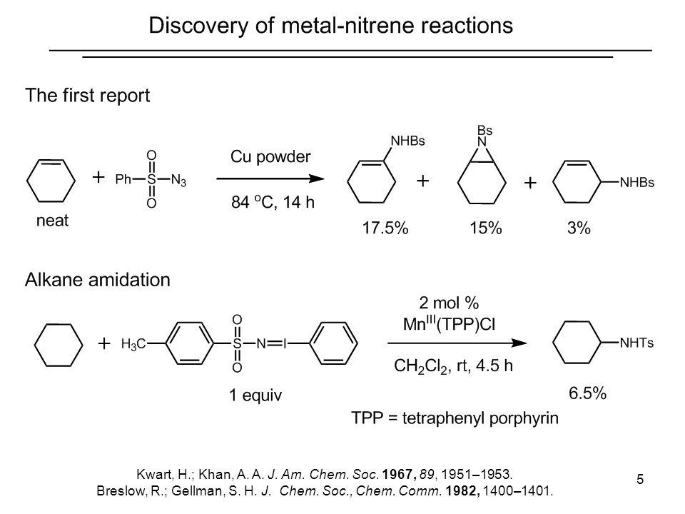 5 Kwart, H.; Khan, A. A. J. Am. Chem. Soc. 1967, 89, 1951–1953. Breslow, R.; Gellman, S. H. J. Chem. Soc., Chem. Comm. 1982, 1400–1401.