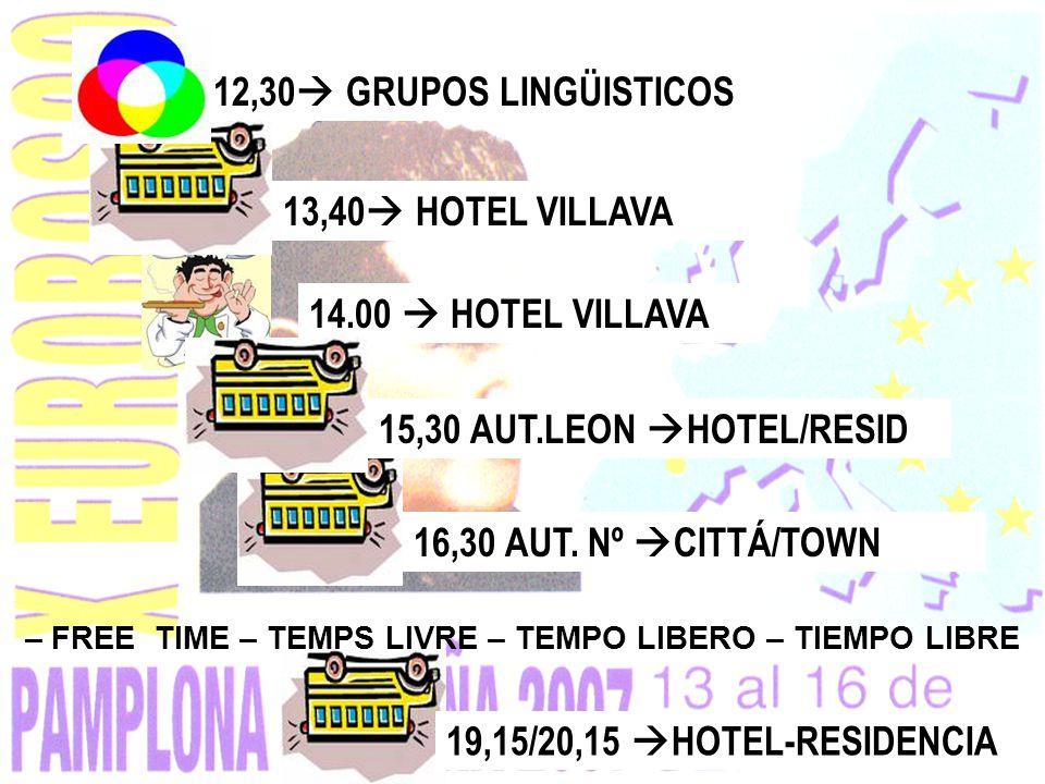 19,15/20,15 HOTEL-RESIDENCIA16,30 AUT.