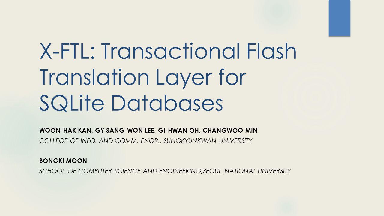 Συμπεράσματα  Μεταφορά ευθύνης της ατομικότητας των transactions από τις εφαρμογές στο storage layer.