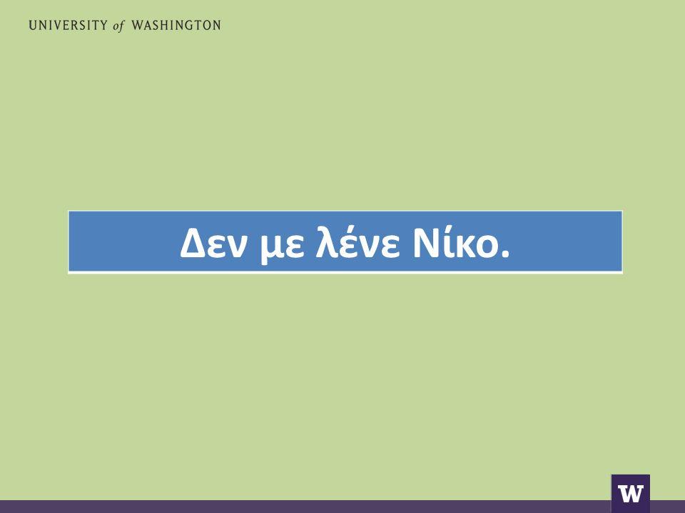 Δεν με λένε Νίκο.