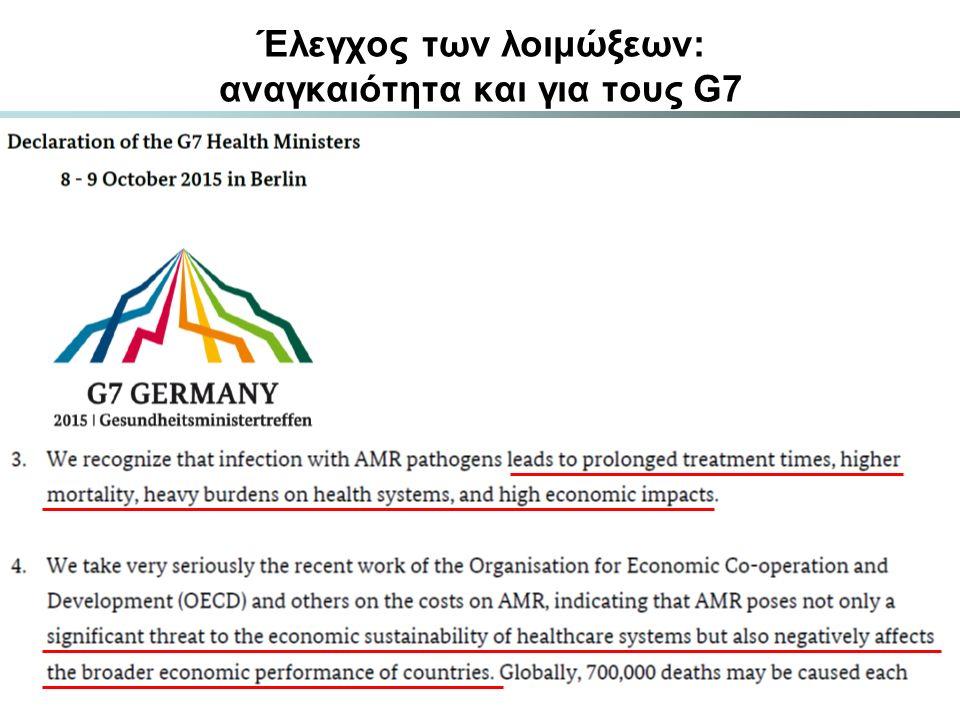 Έλεγχος των λοιμώξεων: αναγκαιότητα και για τους G7