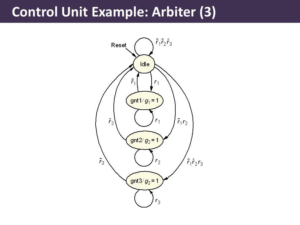 Control Unit Example: Arbiter (3)