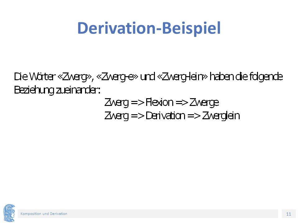 11 Komposition und Derivation Derivation-Beispiel