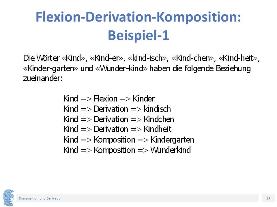 13 Komposition und Derivation Flexion-Derivation-Komposition: Beispiel-1