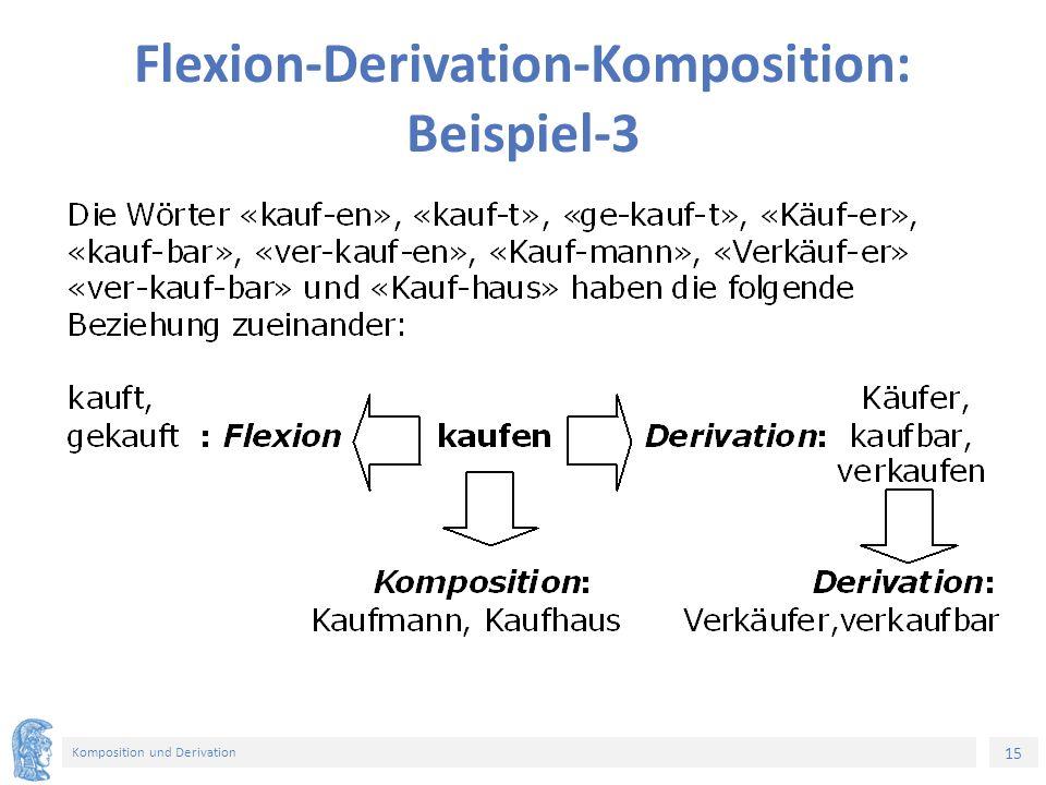 15 Komposition und Derivation Flexion-Derivation-Komposition: Beispiel-3