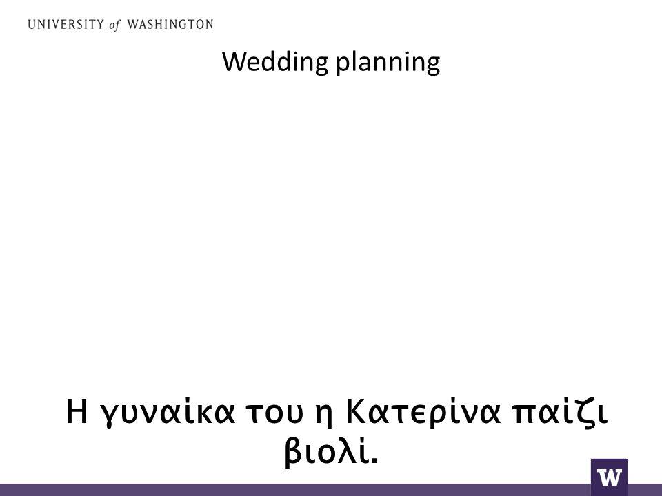 Wedding planning Η γυναίκα του η Κατερίνα παίζι βιολί.