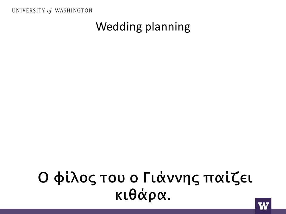 Wedding planning Ο φίλος του ο Γιάννης παίζει κιθάρα.
