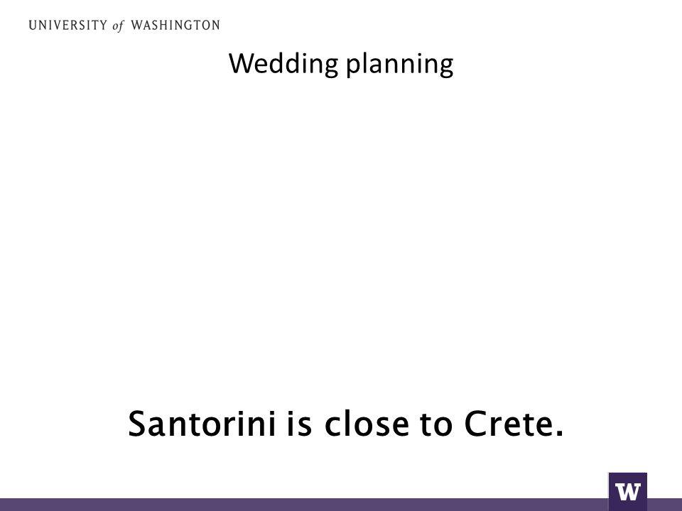 Wedding planning Santorini is close to Crete.