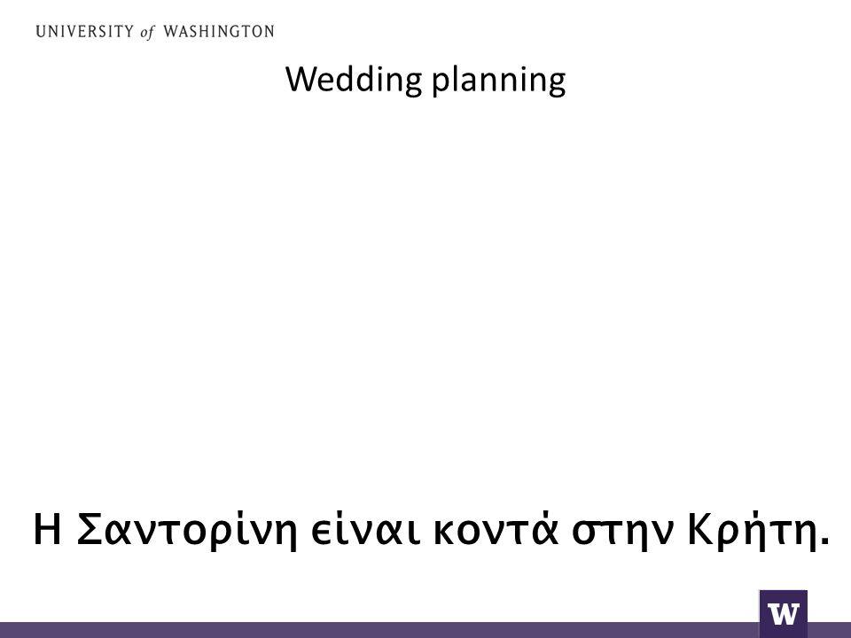 Wedding planning Η Σαντορίνη είναι κοντά στην Κρήτη.
