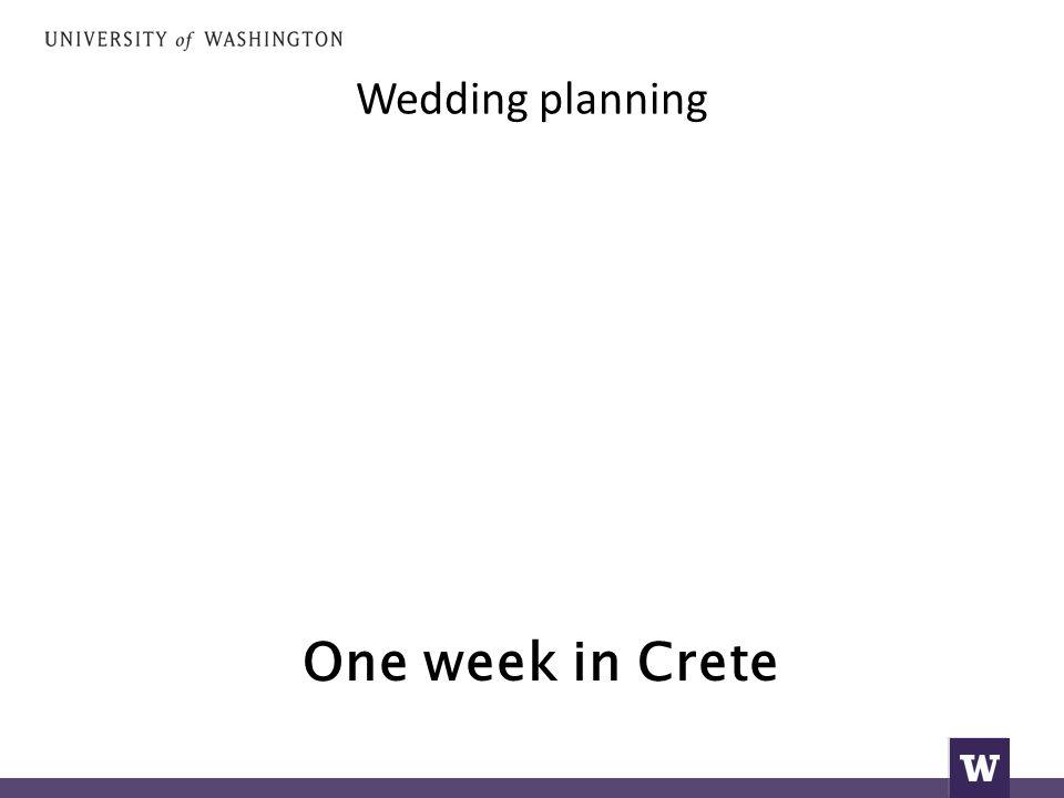 Wedding planning One week in Crete