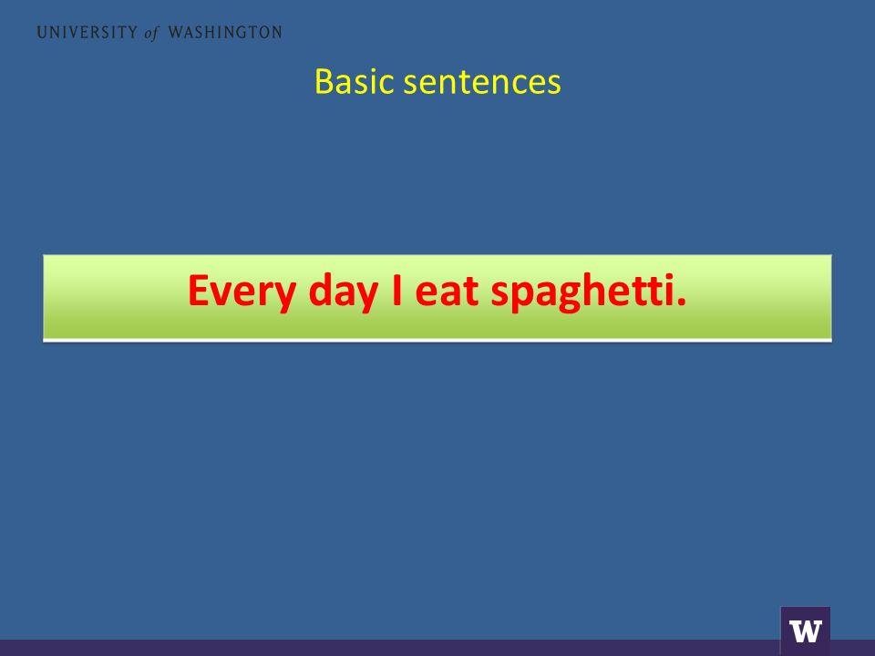 Basic sentences