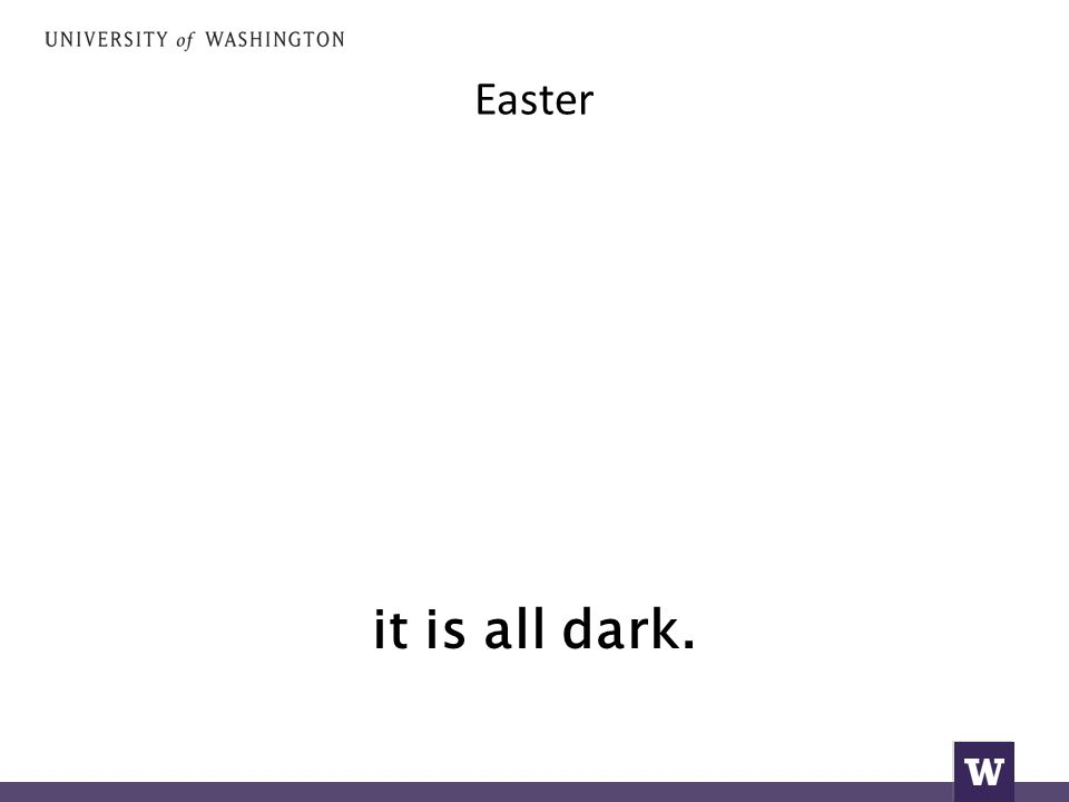 Easter όλα είναι σκοτεινά.