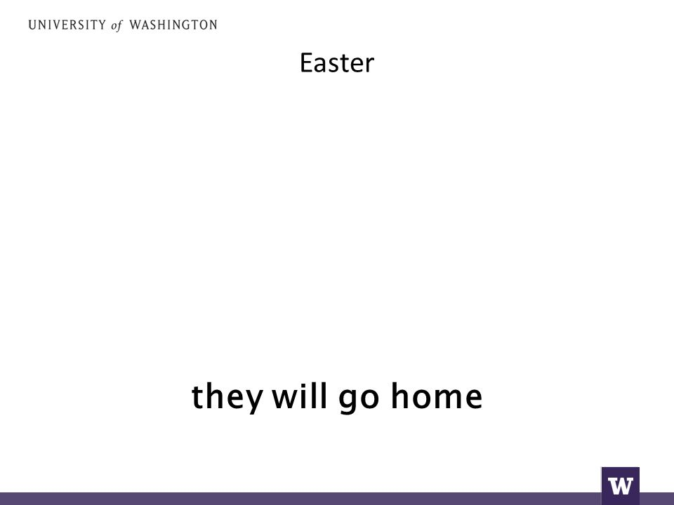 Easter they will go home