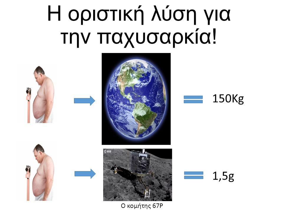 Η οριστική λύση για την παχυσαρκία! Ο κομήτης 67Ρ 150Kg 1,5g
