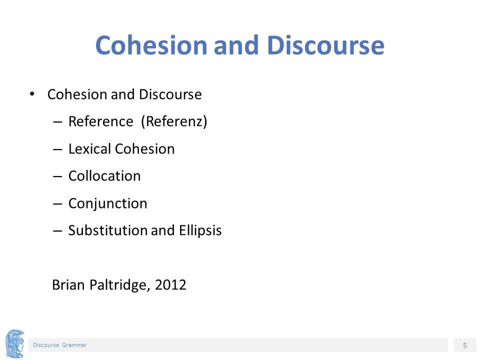 26 Discourse Grammar Σημείωμα Ιστορικού Εκδόσεων Έργου Το παρόν έργο αποτελεί την έκδοση 1.0.