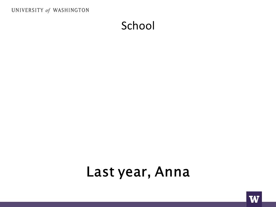 Last year, Anna