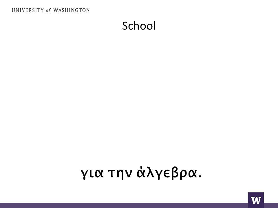 School για την άλγεβρα.