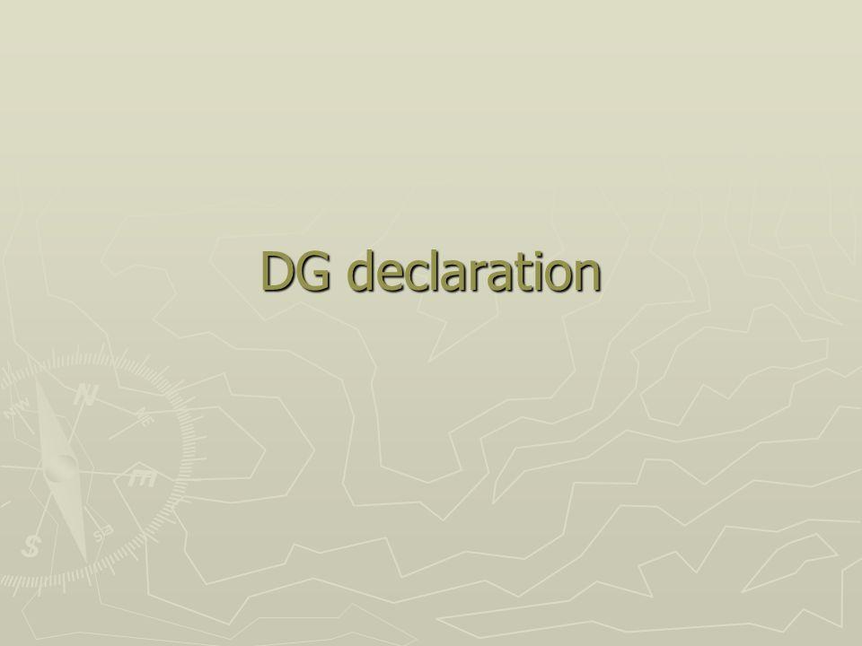 DG declaration