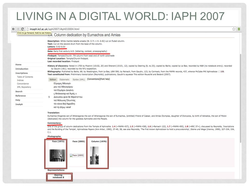 LIVING IN A DIGITAL WORLD: IAPH 2007