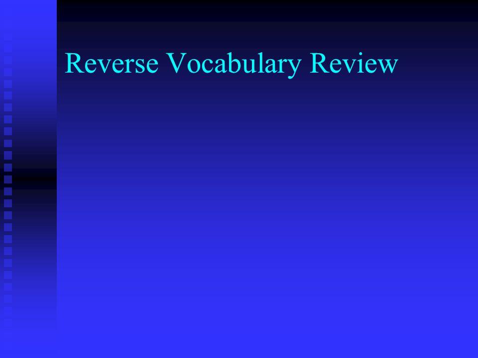 Reverse Vocabulary Review
