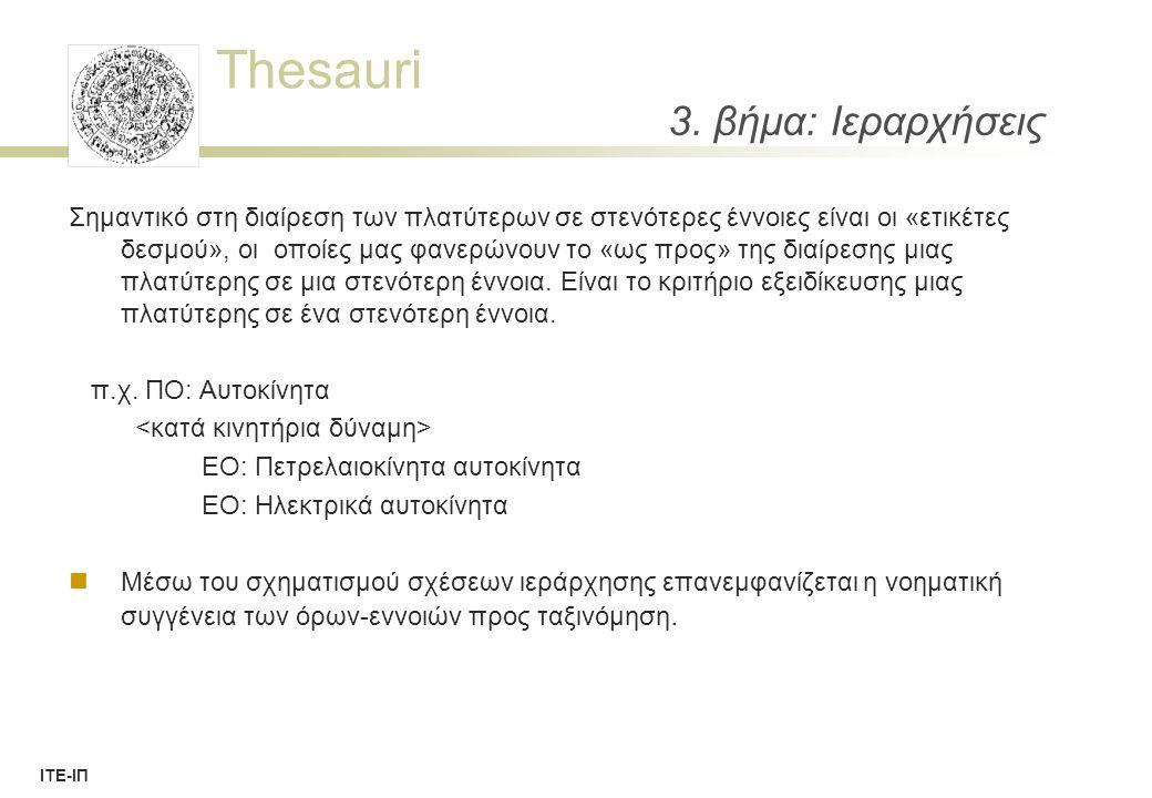 Thesauri ΙΤΕ-ΙΠ 3.