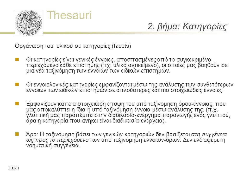 Thesauri ΙΤΕ-ΙΠ AAT term record 49