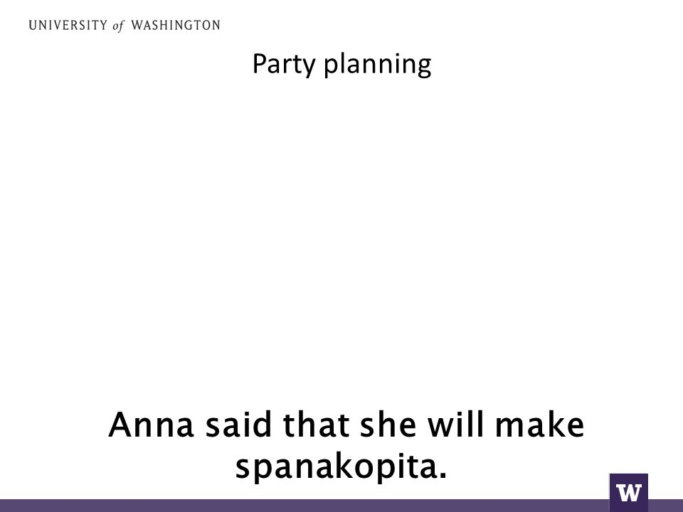 Anna said that she will make spanakopita.