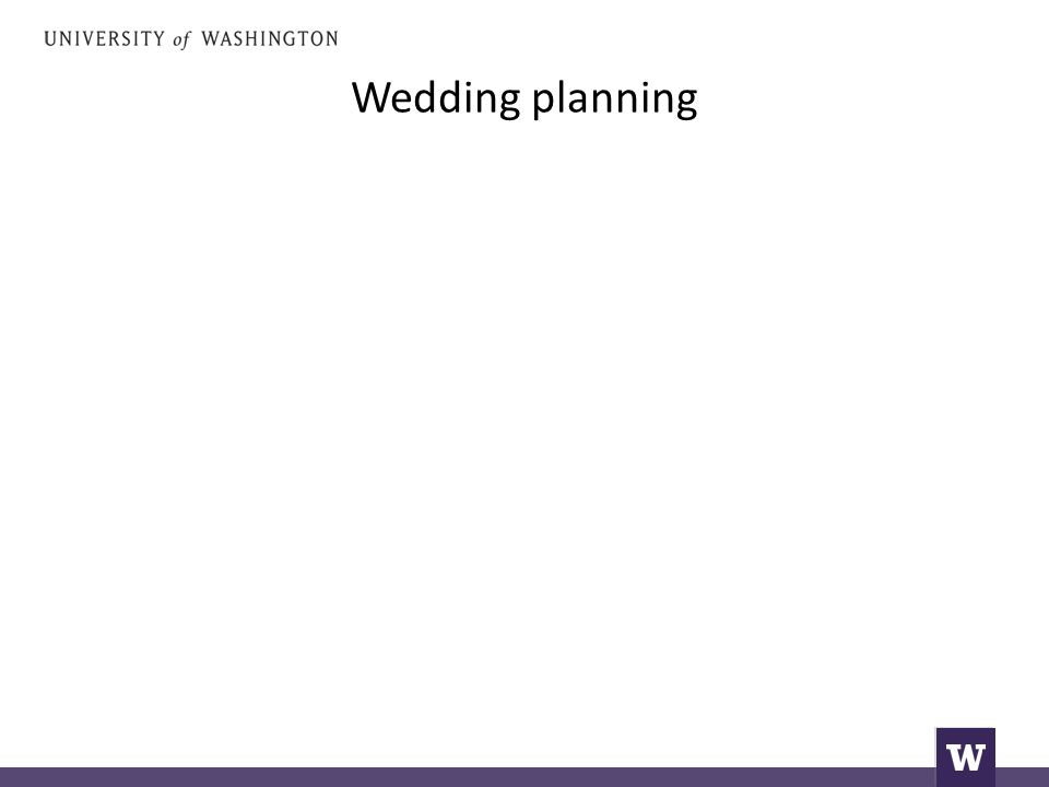 Wedding planning that is next to my father's house.