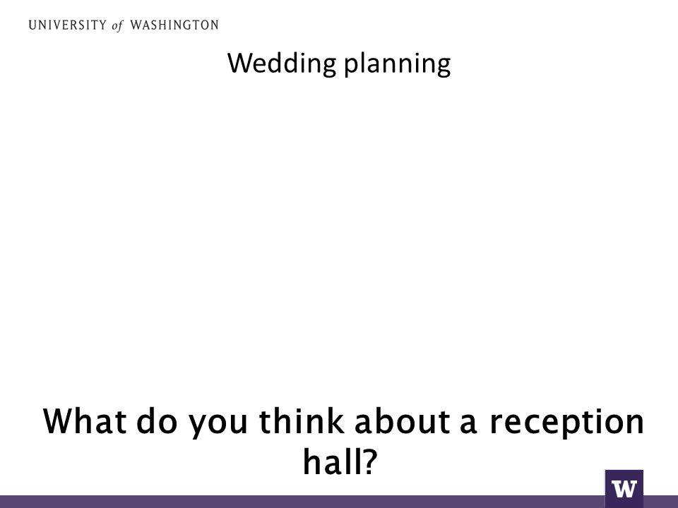 Wedding planning θα είμαστε έξω.