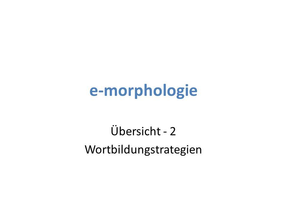 3 Übersicht - 2 Wortbildungstrategien Flexion (Nomen) – Eigentlich keine Wortbildungsstrategie.