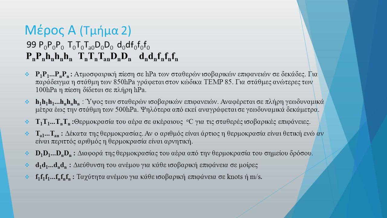 Μέρος Α ( Τμήμα 2) 99 P 0 P 0 P 0 T 0 T 0 T a0 D 0 D 0 d 0 df 0 f 0 f 0 P n P n h n h n h n T n T n T an D n D n d n d n f n f n f n  P 1 P 1...P n P