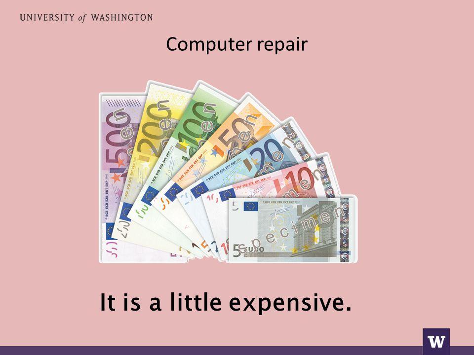 Computer repair It is a little expensive.
