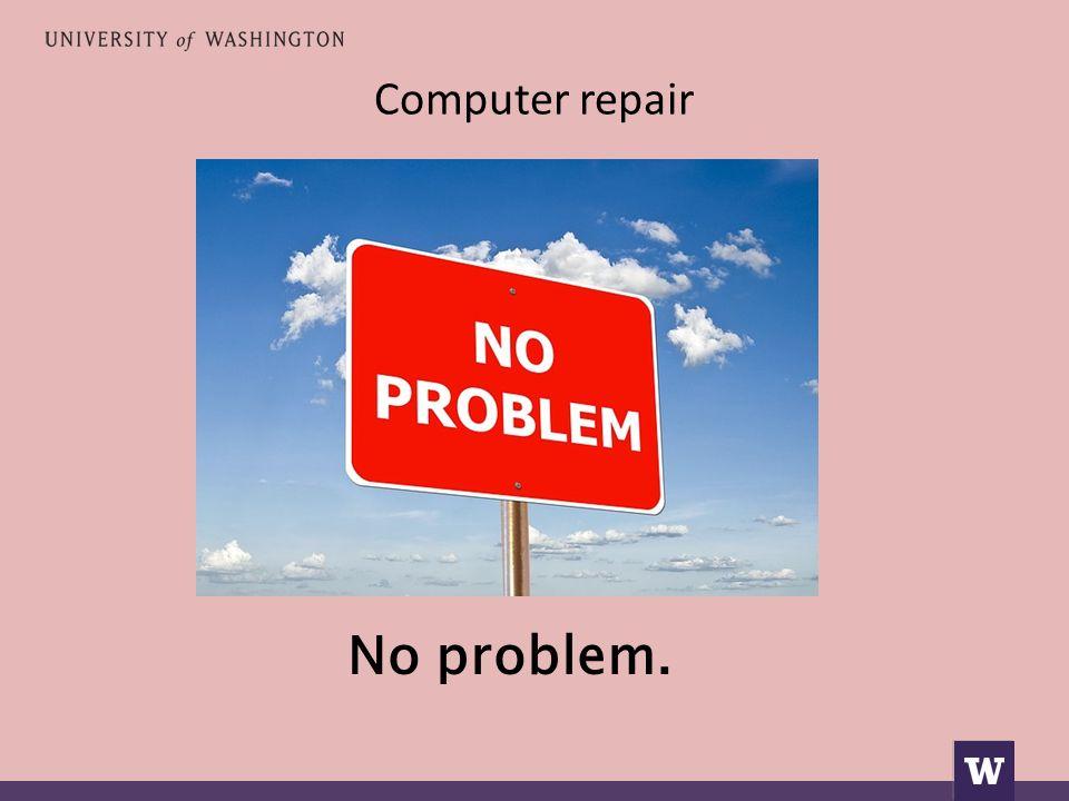 Computer repair No problem.