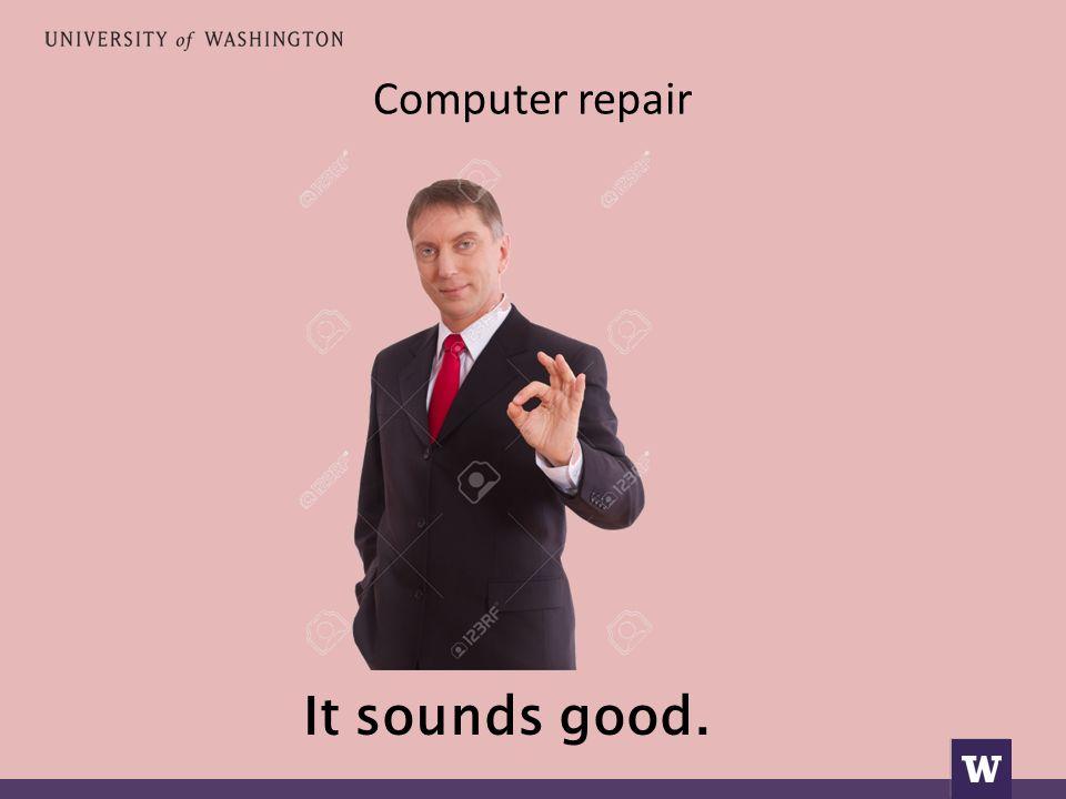 Computer repair It sounds good.