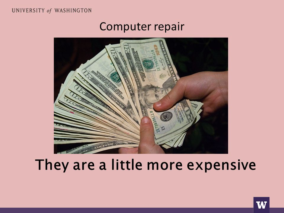 Computer repair They are a little more expensive