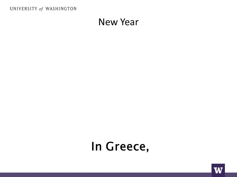 New Year In Greece,
